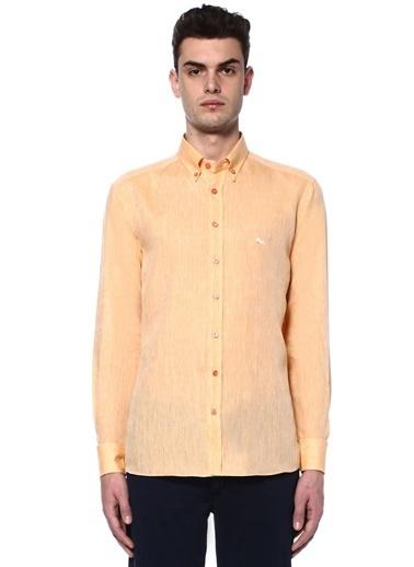 Etro Uzun Kollu Keten Gömlek Oranj